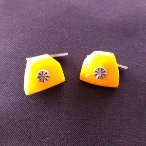 amber cufflinks